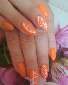 My favourite Orange Nail Art Designs 2019 - Fashion Orange Nail Art, Orange Nail Designs, Orange Nails, Red Nails, Nail Art Designs, New Nail Polish, Nail Polish Colors, Shellac Manicure, Coral Art
