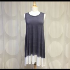 Gray and White Tye Dye Dress Size L Absolutely stunning dress by April Spirit. 96% rayon and 6% spandex. Brand new and never been worn. Perfect for Spring and Summer wardrobe April Spirit Dresses