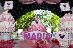 Candy Bar Fiesta Cumpleaños Minnie Mouse