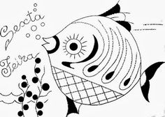 desenho semaninha do peixinho de aquario - sexta- feira