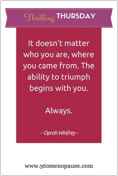 Believe in yourself. Always!