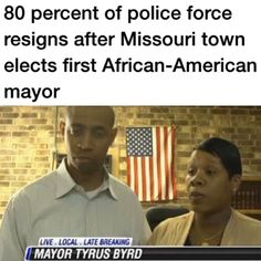 Following the election of the town's first African-American mayor, five of the six officers on a small Missouri town police force resigned en masse, reports KFVS.  Former city clerk Tyrus Byrd was sworn in as mayor of Parma, Missouri on Tuesday only to find out that police officers, as well as the city attorney and a water treatment supervisor, had resigned before she took office.  According to outgoing Mayor Randall Ramsey, who is stepping down after 37 years in town hall over two terms…