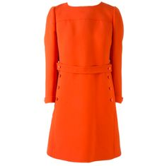 Vintage Courreges Bright Orange  Long Sleeve Dress | From a collection of rare vintage day dresses at http://www.1stdibs.com/clothing/day-dresses/