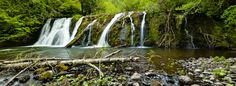 WA State.   Beaver Falls - This charming waterfall can be found on the Olympic Peninsula Waterfall Trail!