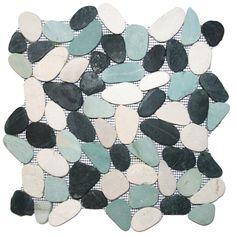 Yukon Random Sized Natural Stone Mosaic Tile in Black/Gray