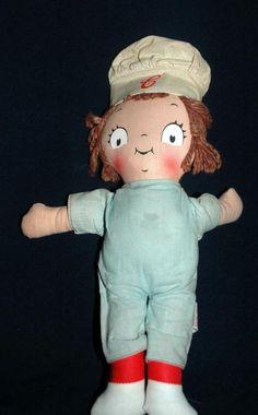 Vintage Campbell Soup Kids Doll, Knickerbocker- boy