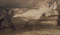 Hugo, Victor : Sleeping Nude (pen & ink a...