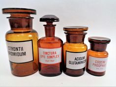 Apothecary Bottles, Pharmacy Bottles, medicine bottles set, Amber Apothecary bottles, Apothecary jar set