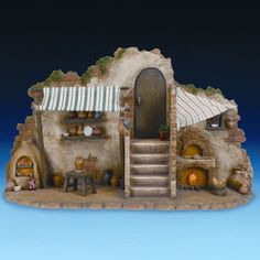 Fontanini Three Piece Lighted Pottery and Bakery Shop Set