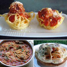 Reinvented Kiddie Food: Spaghetti and Meatballs