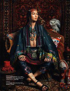 Harper's BAZAAR Indonesia Photography Nicoline Patricia Malina Model Darell Ferhostan Ethnic Fashion, New Fashion, Boho Fashion, High Fashion, Fashion Tips, Fashion Design, Fall Fashion, Tribal Mode, Mode Costume
