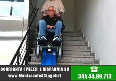 Montascale a cingoli su scala interna con disabile a bordo. Prezzi e offerte sul sito http://www.montascaleacingoli.it
