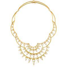 Triplicity Golden Necklace