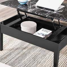 Faux Marble Lift Top Coffee Table $98