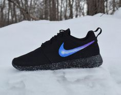 official photos 753b5 7e3fd Custom Nike Roshe Run One by UnleashedKustoms on Etsy Girls Nike Shoes, All  Black Nike