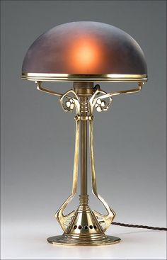 German Jugendstil Table Lamp