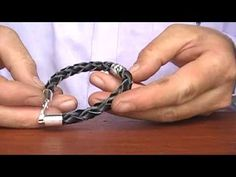 ▶ How to make Sterling Silver Men Leather Bracelet B-119 - YouTube