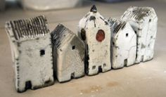 Tiny houses.  Mark Strayer, North Star Pottery