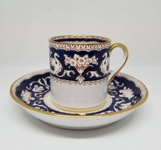 crown devon red & gold demitasse (coffee) cup &