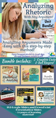 Secondary ELA Teach students how to analyze an author�s arguments with any given argument! Perfect for personalizing or differentiating learning as it provides a great deal of voice and choice for your learners!