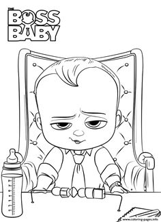 Print The Boss Baby Colouring Coloring Pages Boss Baby In 2019