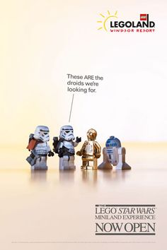 These are the droids we're looking for - on their way to Star Wars miniland at Legoland, England.
