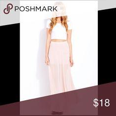 Pink sheer maxi skirt Pink sheer maxi skirt Skirts Maxi