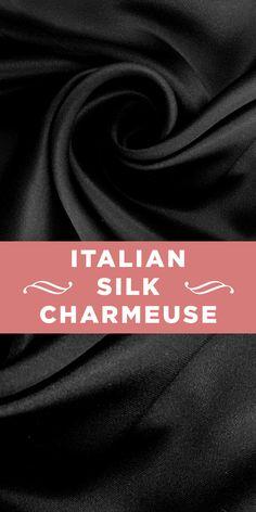Italian Doubleface Silk Charmeuse in Black