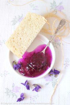 Mermelada de pétalos de violetas