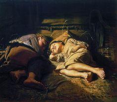 Sleeping Children - Vasily Perov