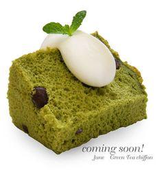 抹茶シフォン Green tea chiffon | Pâtisserie Nature Shiromoto