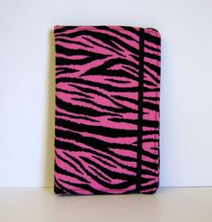 Pink Zebra Kindle Cover Hardcover Nook Cover Nexus 7 Cover by CathyKDesigns, $29.00