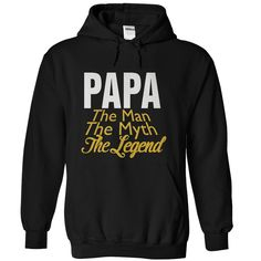 PAPA THE MAN THE MYTH THE LEGEND T-Shirts, Hoodies. VIEW DETAIL ==► https://www.sunfrog.com/LifeStyle/PAPA-THE-MAN-THE-MYTH-THE-LEGEND-Black-18950736-Hoodie.html?id=41382