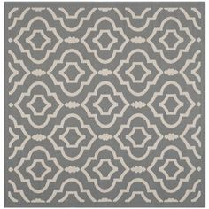 Shop for Safavieh Indoor/ Outdoor Courtyard Anthracite/ Beige Area Rug (7'10 Square). Get free shipping at Overstock.com - Your Online Home Decor Outlet Store! Get 5% in rewards with Club O! - 15819731