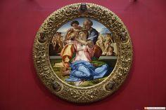 Michelangelo - Doni Tondo - Uffizi gallery - Florence Italy                                                                                                                                                                                 More