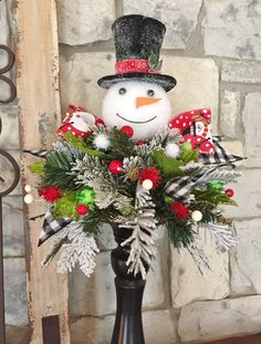 * *******This if for the arrangement only. It does not include the candlesticks, vase or little pot******* DESCRIPTION> The arrangement itself measures approximately across an… Snowman Decorations, Christmas Table Decorations, Decoration Table, Holiday Decor, Christmas Tablescapes, Halloween Decorations, Artificial Floral Arrangements, Christmas Floral Arrangements, Flower Arrangements