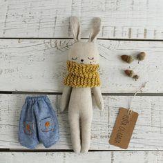 8,5 cm === miniatura CONIGLIO coniglietti con rosa naso per le bambole Tube