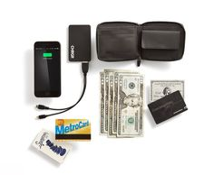 Mack Weldon | Men's Ion Wallet - A two-in-one wallet and phone charger.