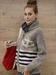 gorgeous hand-knit anchor sweater!