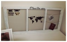 DIY window frame inspired by Riviera Maison World Traveller frame
