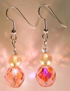 2-Tone Pink, Glass Pearl & Silver