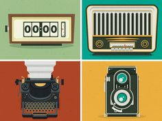 vector graphics inspired by vintage illustration