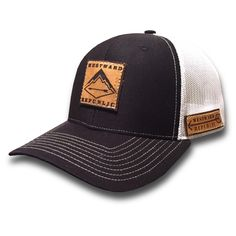 The Westward II. Unique Handmade Leather Patch Design. Comfortable fit Outdoor Inspired Style Adjustable Snapback - one size fits most (adult sizes) JOIN THE REPUBLIC, WEAR WESTWARD.