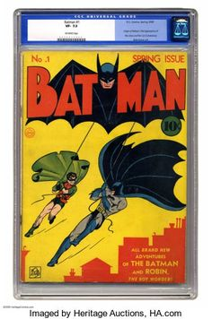 """Uma edição quase impecável de Batman #1 foi vendida na semana passada por pouco mais de 2,2 milhões de dólares (cerca de R$12 milhões). O exemplar, que estava em leilão pela """"Heritage Auctions"""", estabeleceu um novo recorde para o quadrinho mais caro do Batman já negociado.  Exemplar de """"Batman #1"""" vendido por R$12 milhões é quadrinho do Batman mais caro da história (Foto: Divulgaçã"""