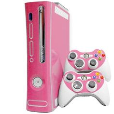 Pink Xbox 360. Playing Halo, Forza and COD in style baby!<3