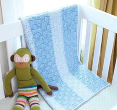 Tunisian Crochet Baby Blankets contains 8 original designs in contemporary colors by Sharon H. Silverman. Whether you're looking for classic cables, ripples, stripes, bobbles, or basket weave blocks,