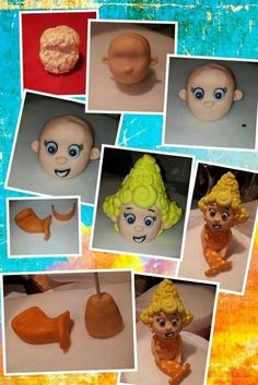 Bubble guppies model - by timefortiffin @ CakesDecor.com - cake decorating website