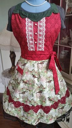 Check out this item in my Etsy shop https://www.etsy.com/listing/557419460/christmas-chickadee-apron-feminine-and