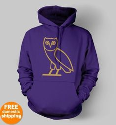 Could there be anything better than a purple Drake hoodie? #OVO