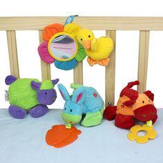 Çıngırak Döner Arabası Asılı Beşik yatıştırmak bebek eğitim Diş Kaşıyıcı kid Squishy çiftlik çocuk bebek hediye erken yumuşak bebek oyuncakları